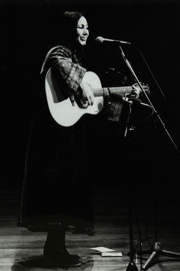American Folk Musician Julie Felix on Stage at the Forum Theatre, Hatfield, Hertfordshire, 1979-Denis Williams-Photographic Print