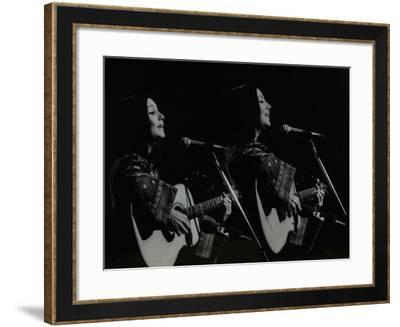 American Folk Musician Julie Felix Performing at the Forum Theatre, Hatfield, Hertfordshire, 1979-Denis Williams-Framed Photographic Print