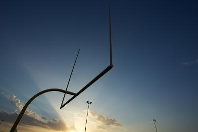 American Football Goal Posts or Uprights at Sunset-33ft-Photographic Print