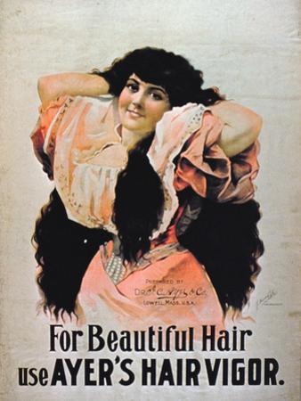 For Beautiful Hair Use Ayer's Hair Vigor' (Colour Litho)