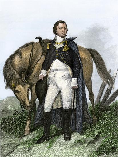 American General Nathanael Greene Beside His Horse--Giclee Print