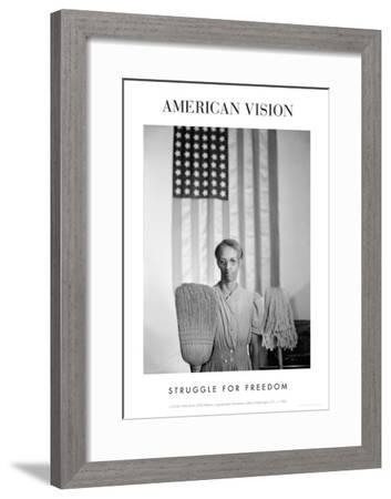American Gothic, 1942 (Struggle for Freedom)-Gordon Parks-Framed Art Print
