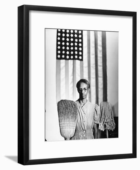 American Gothic, 1942-Gordon Parks-Framed Giclee Print
