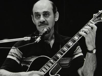 American Guitarist Joe Pass Playing at the Shaw Theatre, London, 31 July 1982-Denis Williams-Photographic Print