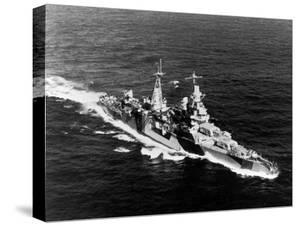 American Heavy Cruiser Uss Indianapolis at Sea