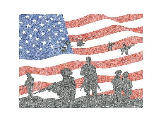 American Heroes-Viz Art Ink-Giclee Print