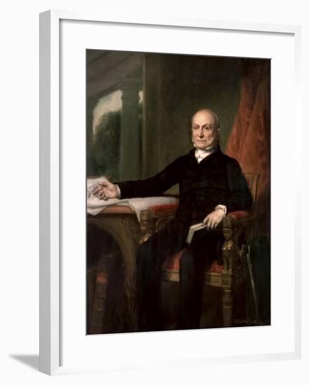 American History Painting of President John Quincy Adams-Stocktrek Images-Framed Art Print