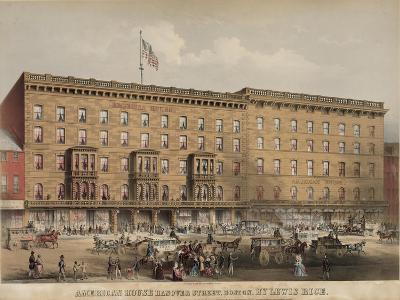 American House Hotel - Hanover Street-Lewis Rice-Art Print