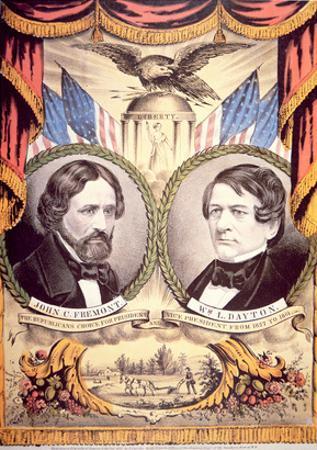 John Charles Fremont's Republican Party Poster, 1856 (Colour Litho)