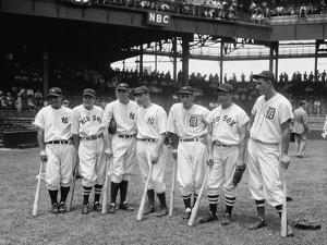 American League Baseball Greats in the Line-Up of the 5th All-Star Game Played on July 7, 1937