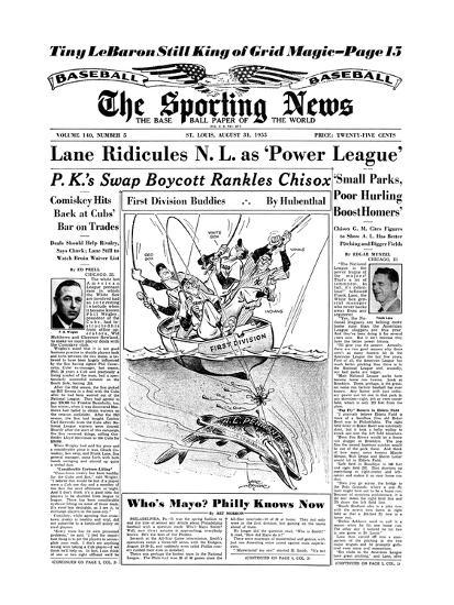 American League Pennant Race - August 31, 1955--Photo