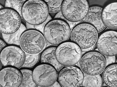 "American ""Liberty"" Silver Dollars-Bettmann-Photographic Print"