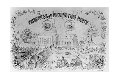 """American Lithograph """"Principles of the Prohibition Party""""--Giclee Print"""