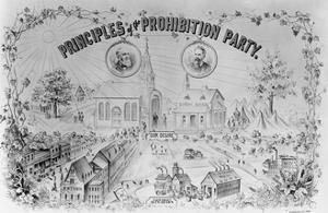 """American Lithograph """"Principles of the Prohibition Party"""""""