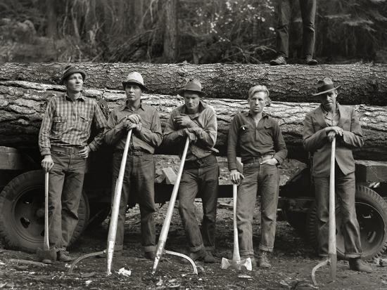 American Loggers, 1939--Photographic Print