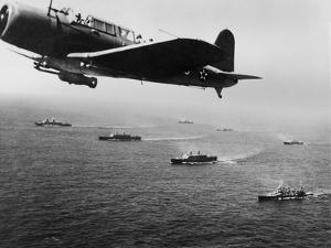 American Military Convoy in the South Atlantic Ocean