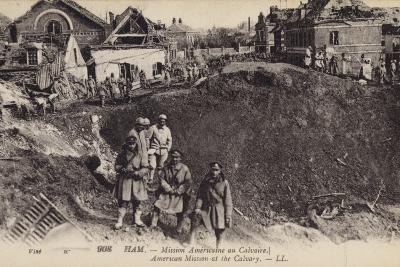 American Mission at the Calvary, Ham, France, World War I--Photographic Print
