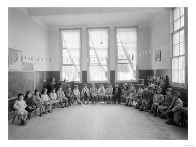 American Mission Girl's School Kindergarten Photograph - Tripoli, Lebanon-Lantern Press-Art Print