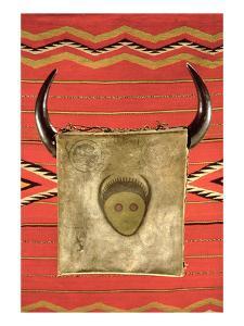 Navajo Buffalo Moon Blanket, from Arizona (Wool) by American