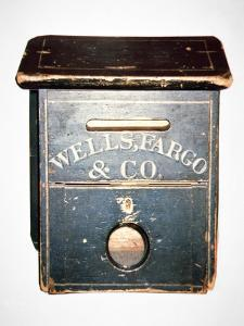 Original Wells Fargo and Co. Letter Box of the Old West, C.1880 (Wood) by American