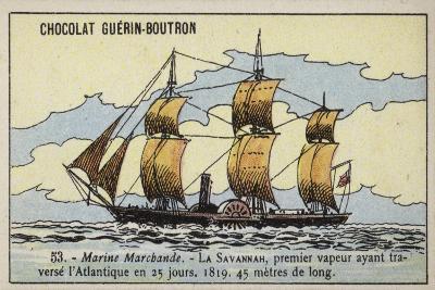 American Paddle Steamer Savannah--Giclee Print
