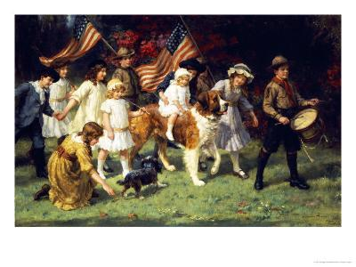 American Parade, 1917-George Sheridan Knowles-Giclee Print