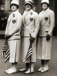 Aileen Riggin, Gertrude Ederle, Helen Wainwright, Three American Olympic Swimming Champions, 1924 by American Photographer