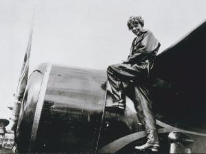 Amelia Earhart, 1932 (b/w photo) by American Photographer