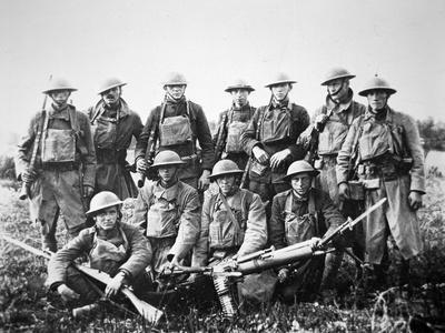 American Patrol with German Machine Gun Captured in the Saint-Mihiel Offensive on the Western?