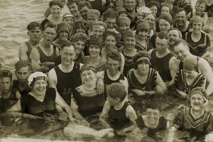 Beach Party, 1917 by American Photographer