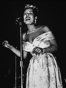 Billie Holiday (1915-59) (B/W Photo) by American Photographer