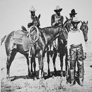 Black Cowboys at Bonham, Texas, C.1890 (B/W Photo) by American Photographer