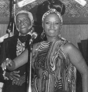 Celia Cruz on Stage, 15 July 1976 by American Photographer