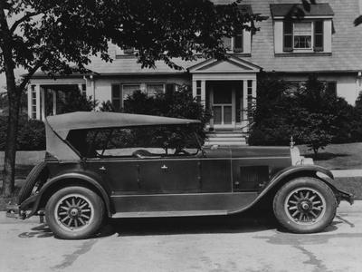 Dupont Automobile on Front of House, C.1919-30 (B/W Photo)