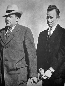 John Dillinger under Arrest in January 1934 (B/W Photo) by American Photographer