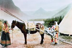 Native American Horse Travois, C.1900 by American Photographer