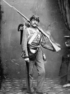 New York State Militiaman with Percussion Rifle-Musket by American Photographer