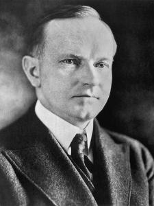 Portrait of Calvin Coolidge (1872-1933) 30th President of the United States of America by American Photographer