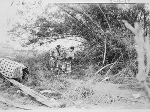 Seminole Indians with a Captured Alligator by American Photographer