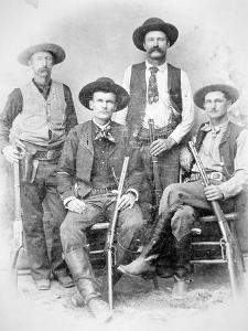 Texas Rangers Armed with Revolvers and Winchester Rifles, 1890 (B/W Photo) by American Photographer
