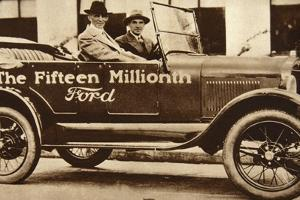 The Fifteen Millionth Ford, 1927 by American Photographer