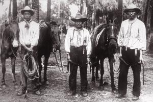 Three Seminole Indians by American Photographer