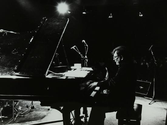 American Pianist Dick Wellstood Playing at Potters Bar, Hertfordshire, 1986-Denis Williams-Photographic Print