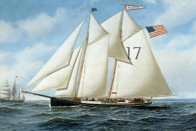American Pilot Schooner, Fannie-Antonio Jacobsen-Giclee Print