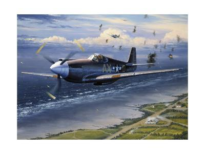 American Planes on Reconnaissance Mission over Normandy--Giclee Print