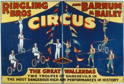 Poster Advertising the Great Wallendas at the 'Ringling Bros. and Barnum and Bailey Circus'