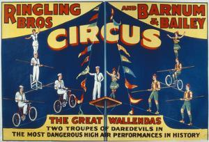 Poster Advertising the Great Wallendas at the 'Ringling Bros. and Barnum and Bailey Circus' by American
