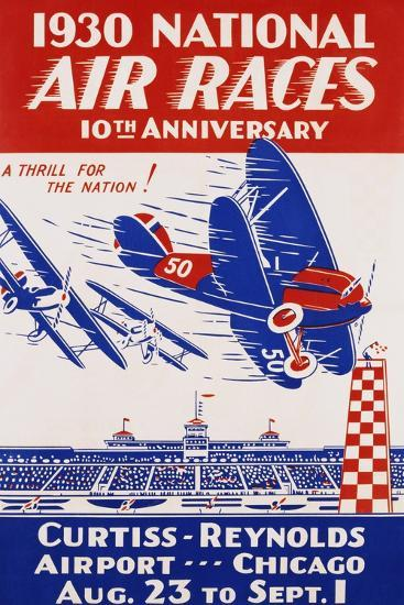 American Poster for 1930 National Air Races--Giclee Print