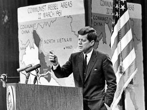 American President John Kennedy Has Held Press Conferences About International Issues