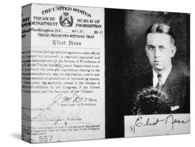 Prohibition Agent Id Card of Eliot Ness (1903-57) Dated 20th May, 1927 (Litho)
